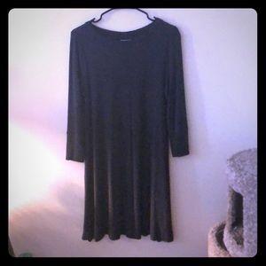 Dark grey winter dress